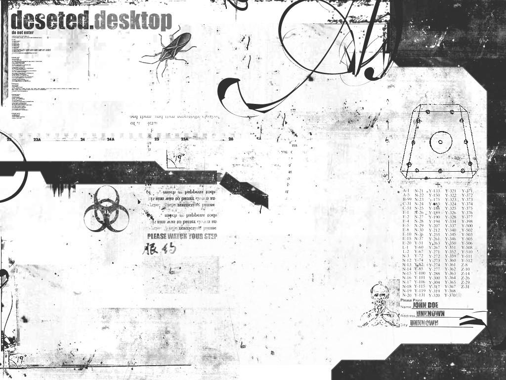 Abstract Wallpaper: The Deseted Desktop