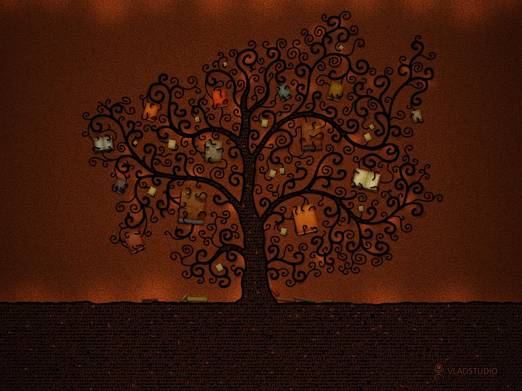Abstract Wallpaper: The Tree of Books