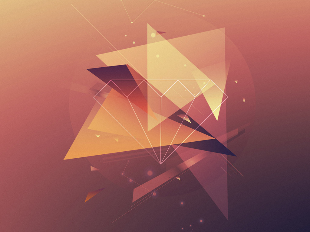 Abstract Wallpaper: Triangles