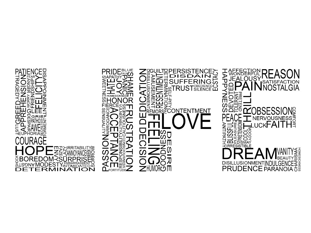 Abstract Wallpaper: Typography - Words of Life