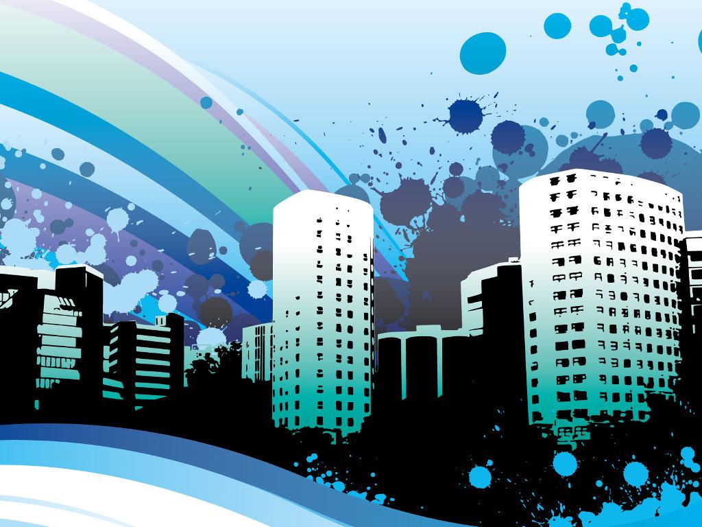 Abstract Wallpaper: Urban Vector