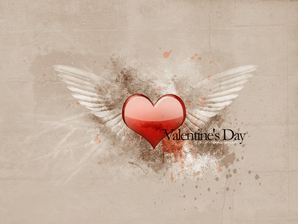 Abstract Wallpaper: Valentines Day - 3D Heart