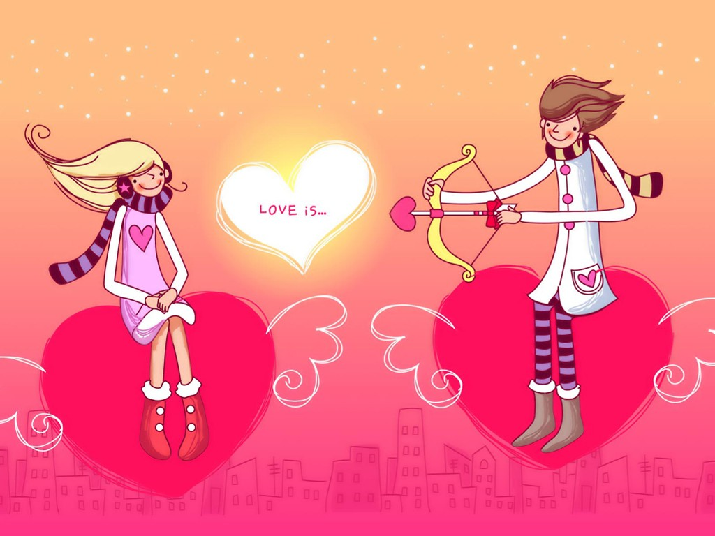 Abstract Wallpaper: Valentine's Day - Cupid Arrows