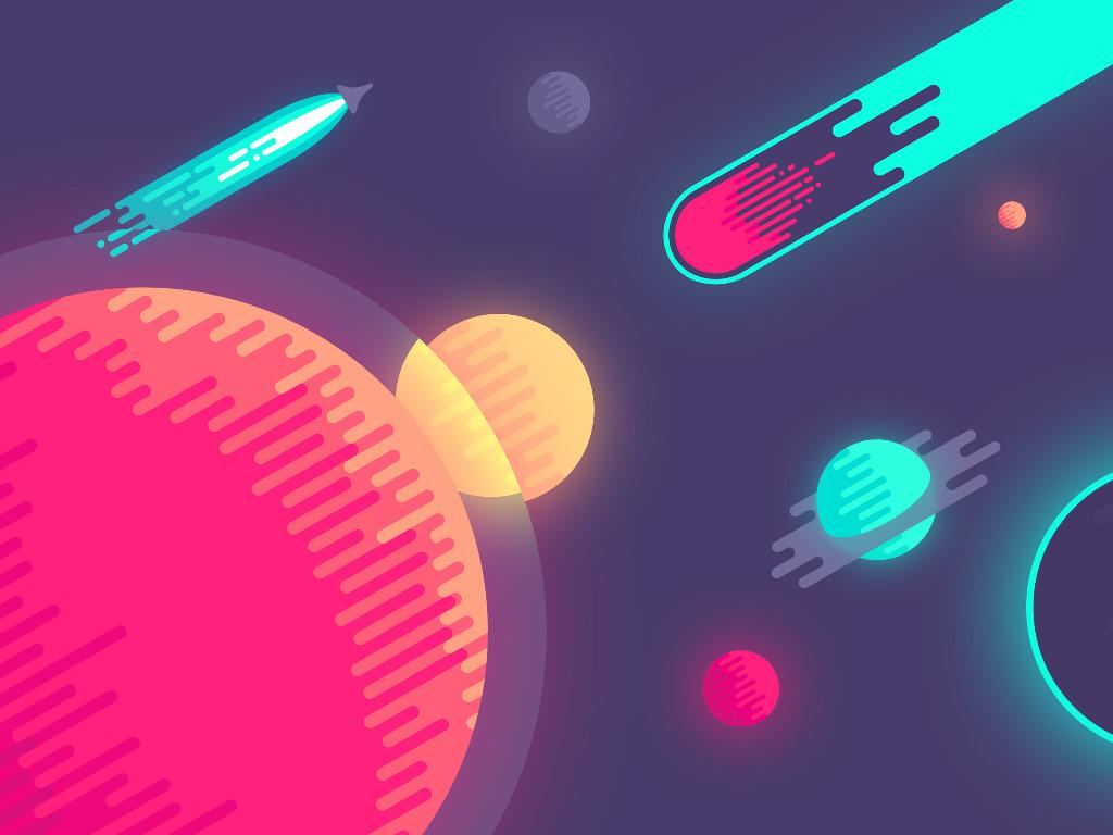 Abstract Wallpaper: Vector - Cosmos