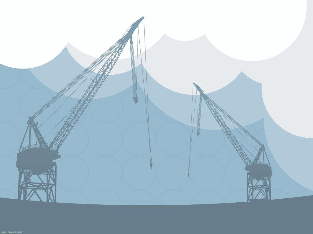 Abstract Wallpaper: Vector Cranes