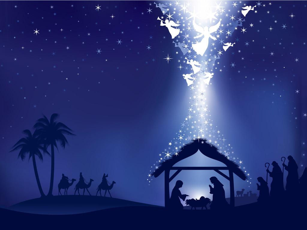Abstract Wallpaper: Nativity - Vector