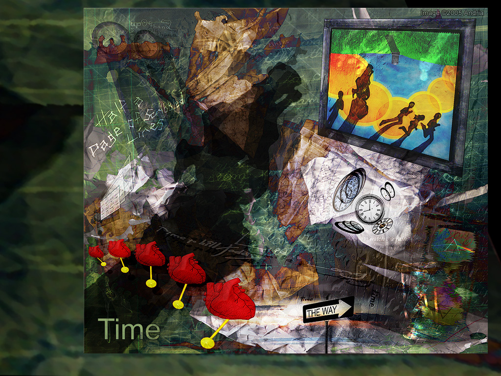 Abstract Wallpaper: Visions of Time