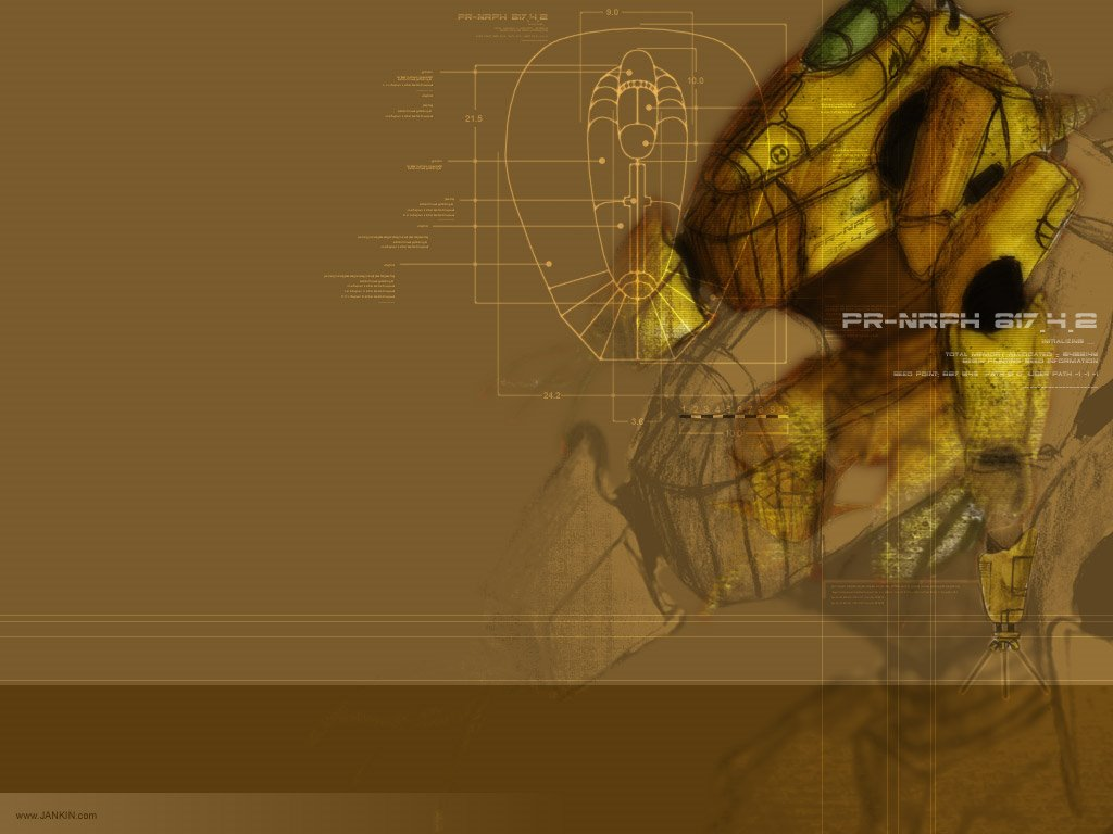 Abstract Wallpaper: Warbot