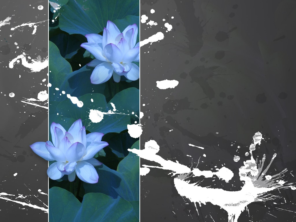 Abstract Wallpaper: Waterlilies