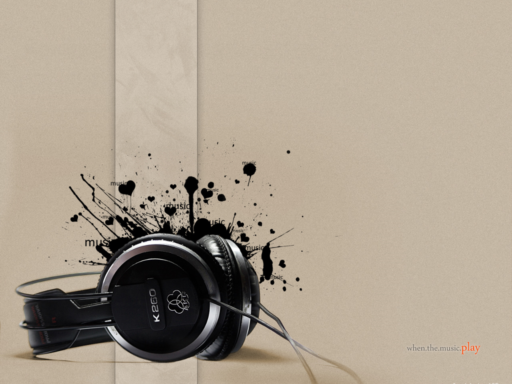 Abstract Wallpaper: When The Music Play