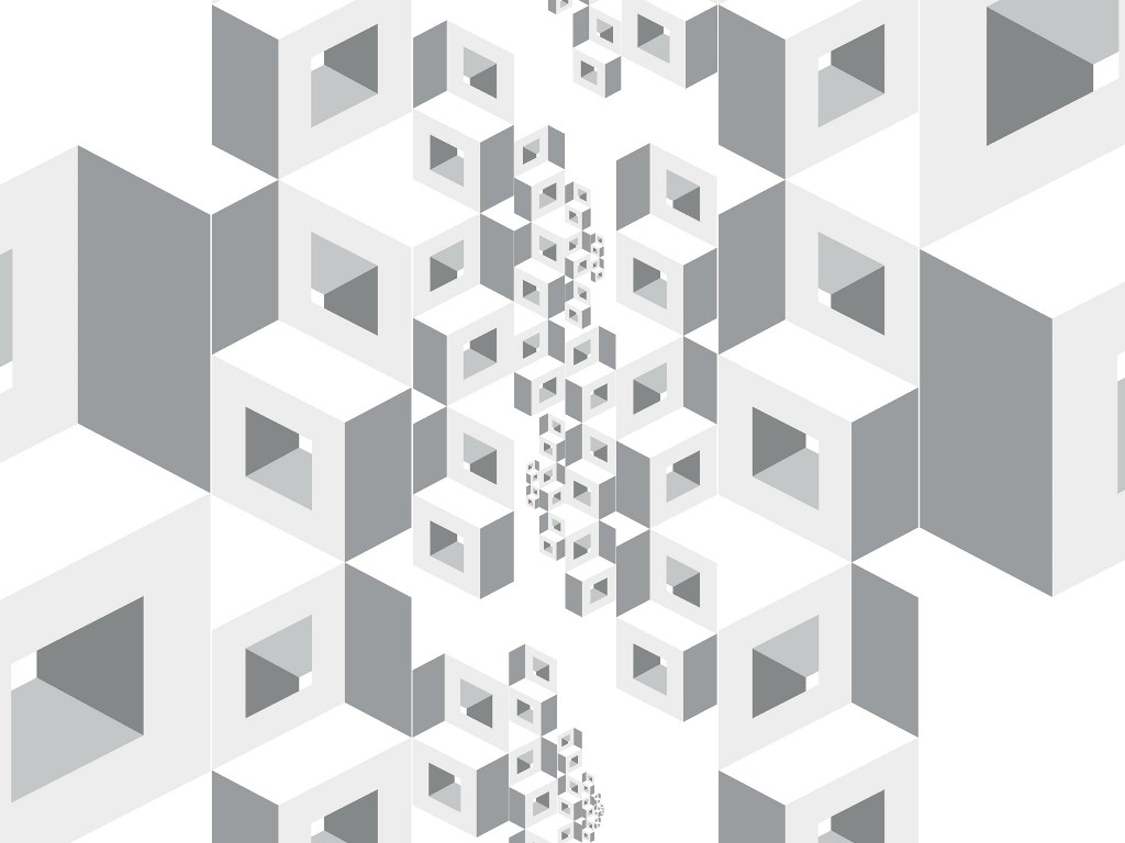 Abstract Wallpaper: White Cubes