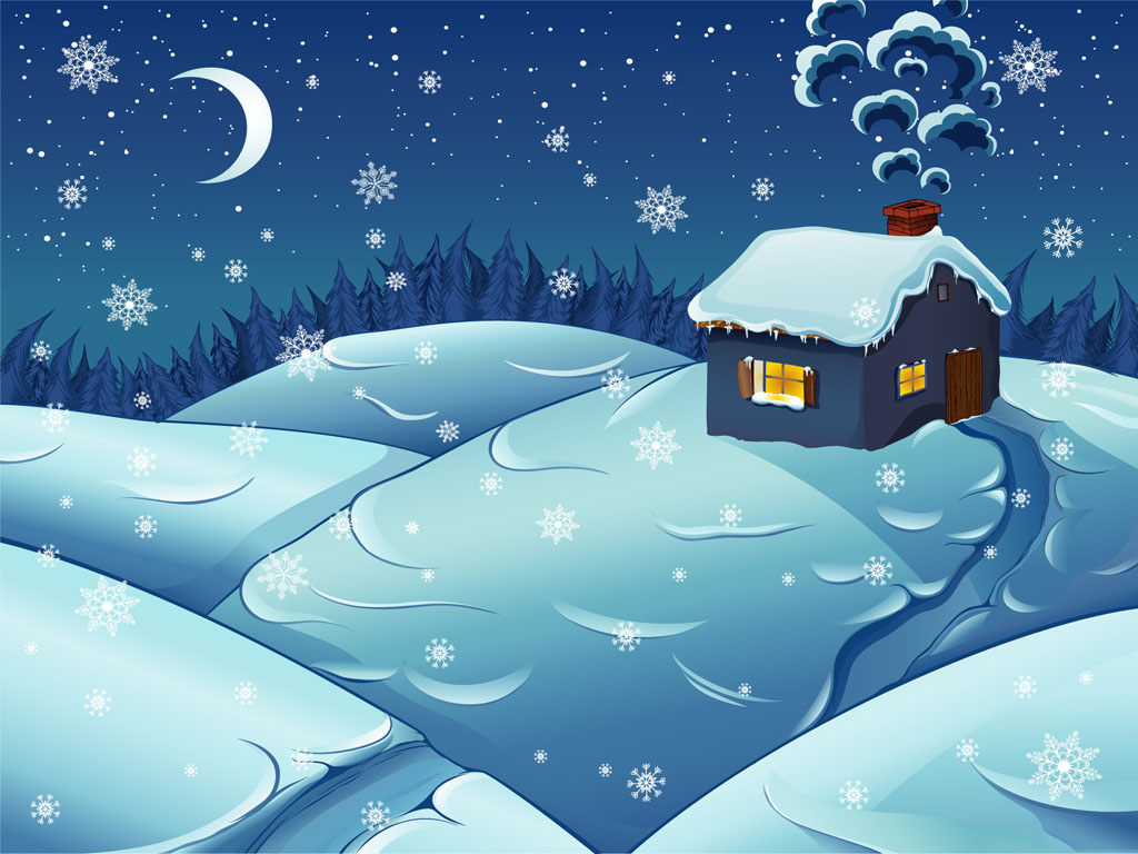 Abstract Wallpaper: Christmas - Cottage