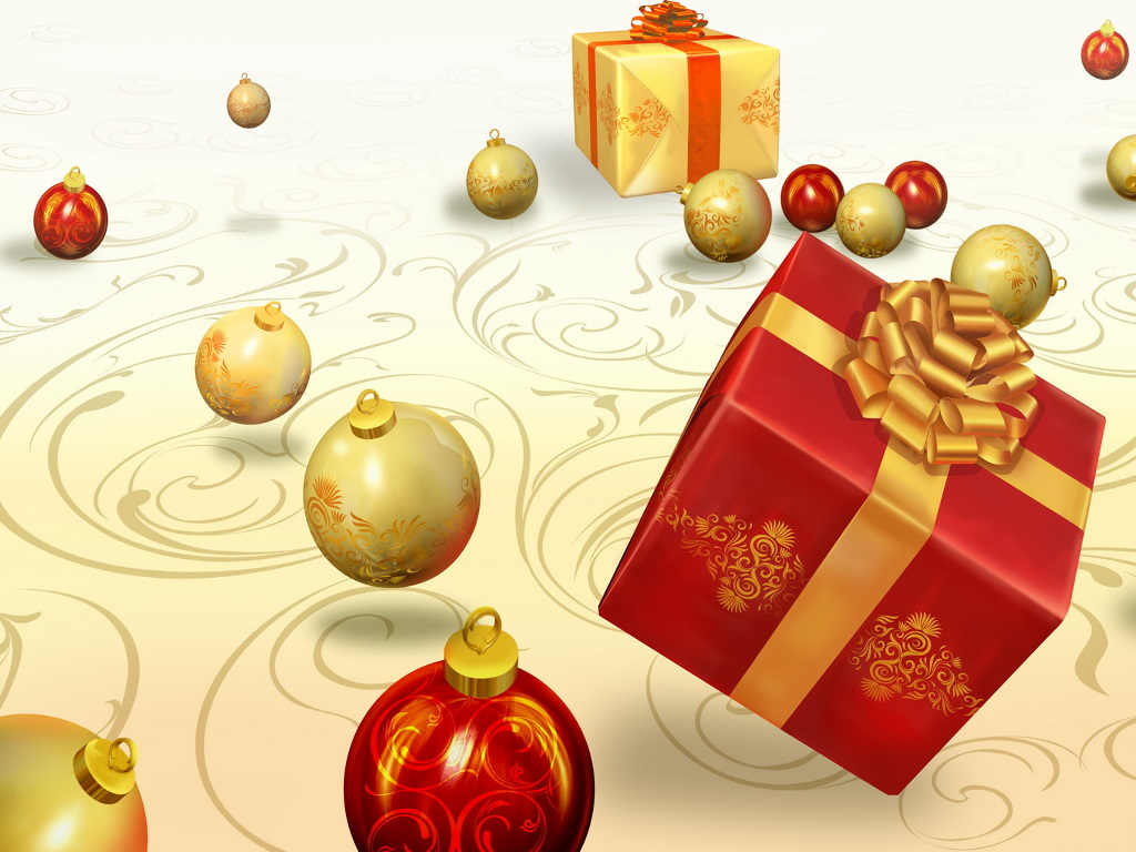 Abstract Wallpaper: Christmas - Gifts
