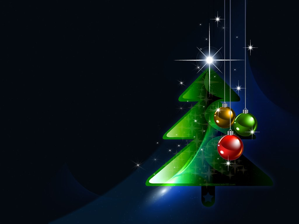 Abstract Wallpaper: Christmas Tree 3D