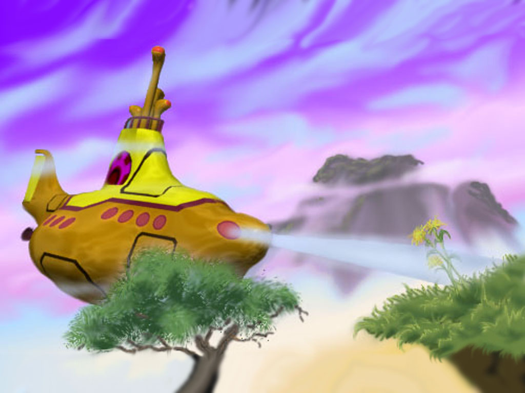 Abstract Wallpaper: Yellow Submarine 3D