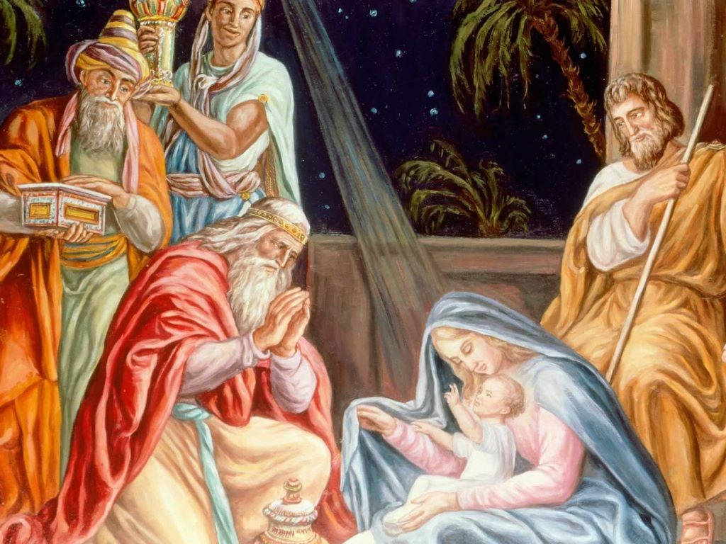 Artistic Wallpaper: Adoration of the Wise Men