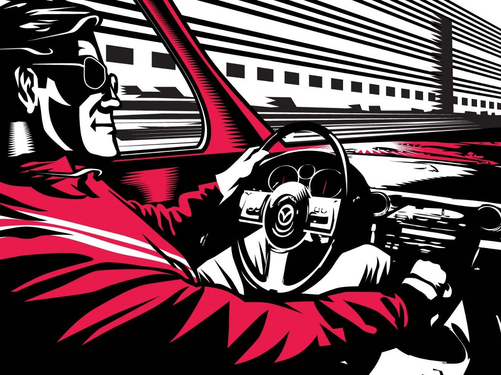 Artistic Wallpaper: Aidan Hughes - Driving Man