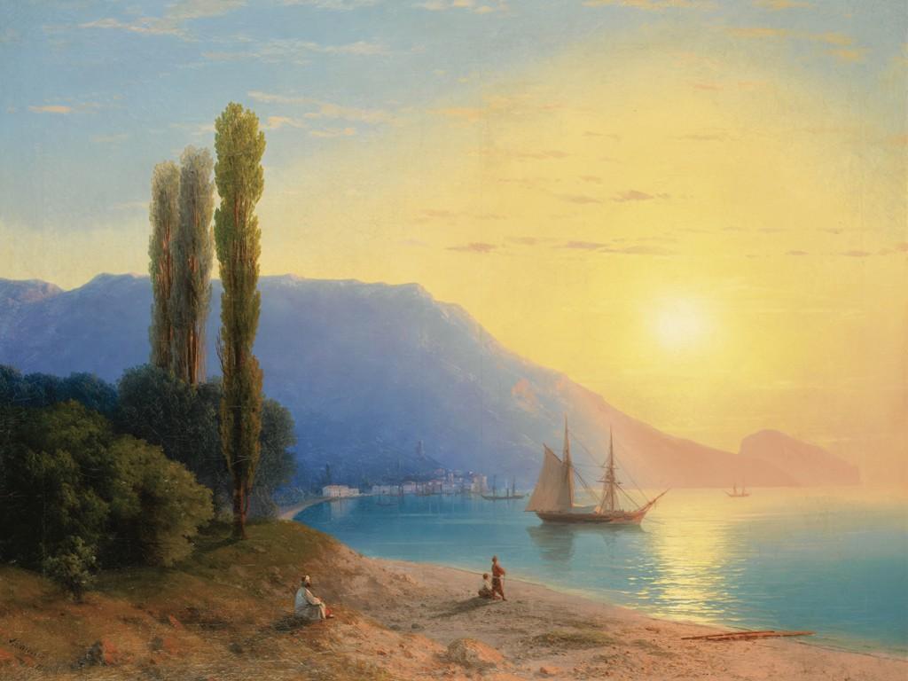 Artistic Wallpaper: Aivazovsky - Sunset Over Yalta