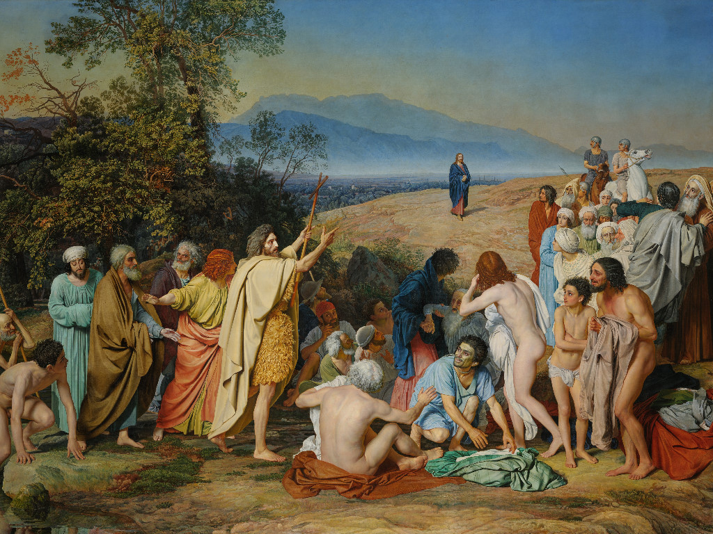 Artistic Wallpaper: Aleksander Ivanov - The Apparition of Christ to the People