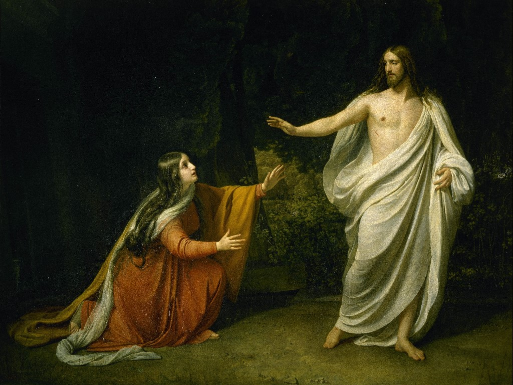 Artistic Wallpaper: Alexander Ivanov - Christ Appearance to Mary Magdalene After the Resurrection