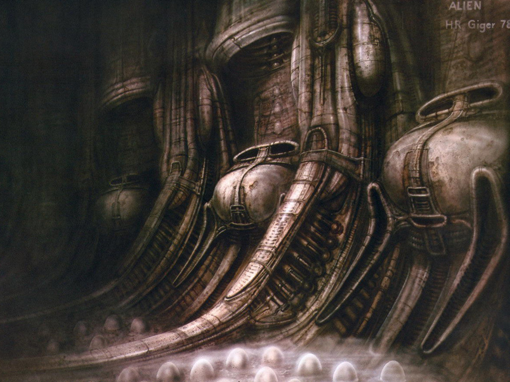 Artistic Wallpaper: H.R. Giger - Alien Eggs