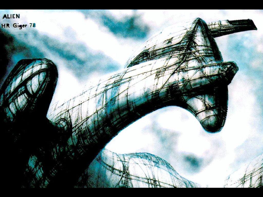 Artistic Wallpaper: Giger - Alien Ship
