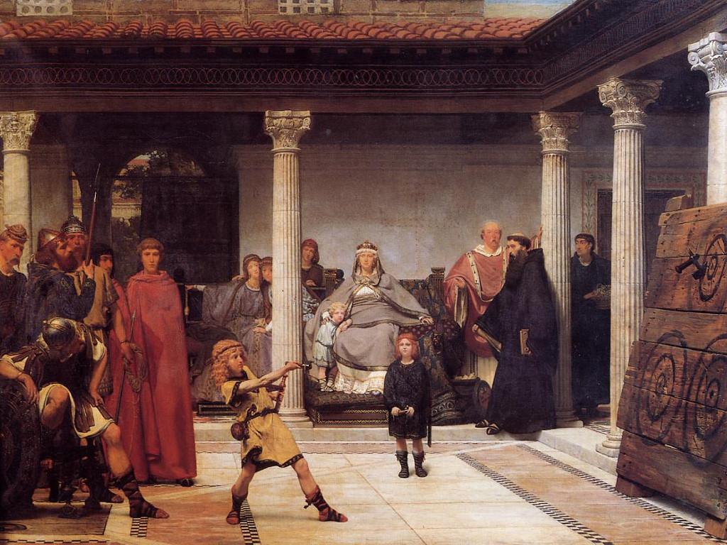 Artistic Wallpaper: Alma Tadema - The Education of the Children of Clovis