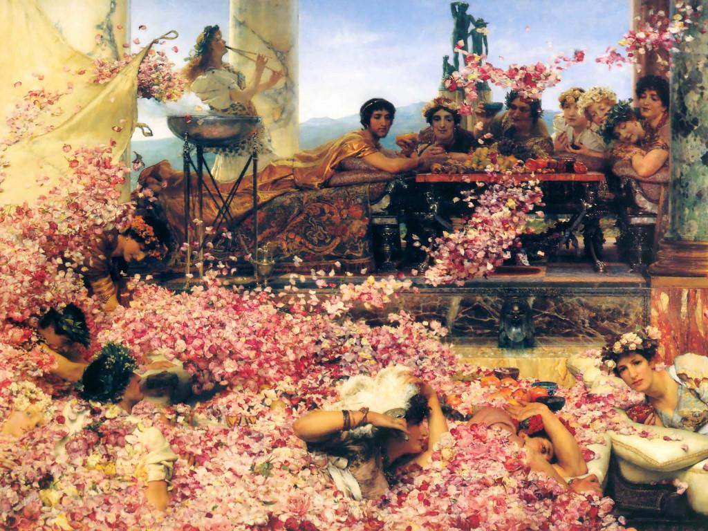 Artistic Wallpaper: Alma Tadema - The Rose of Heliogabalus