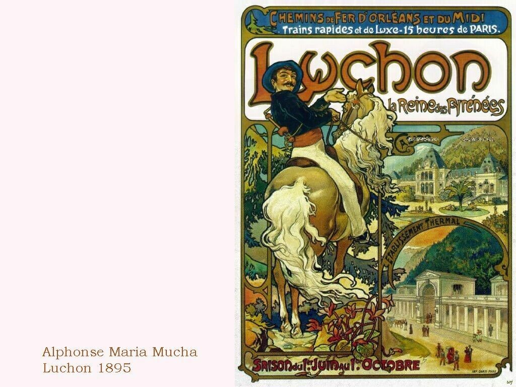 Artistic Wallpaper: Alphonse Mucha - Luchon