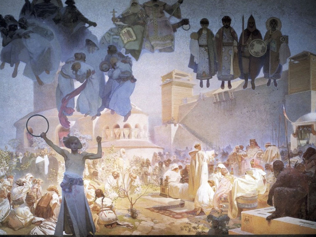Artistic Wallpaper: Alphonse Mucha - Slav Epic