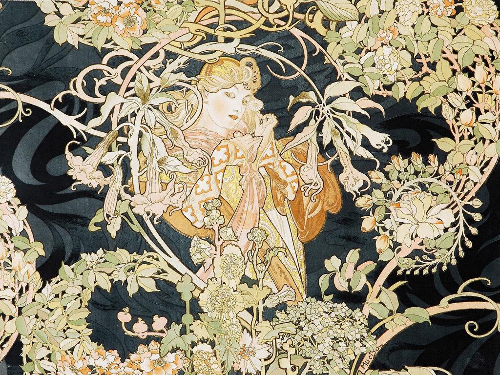Artistic Wallpaper: Alphonse Mucha - Vienna
