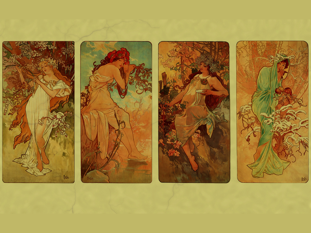 Artistic Wallpaper: Alphonse Mucha