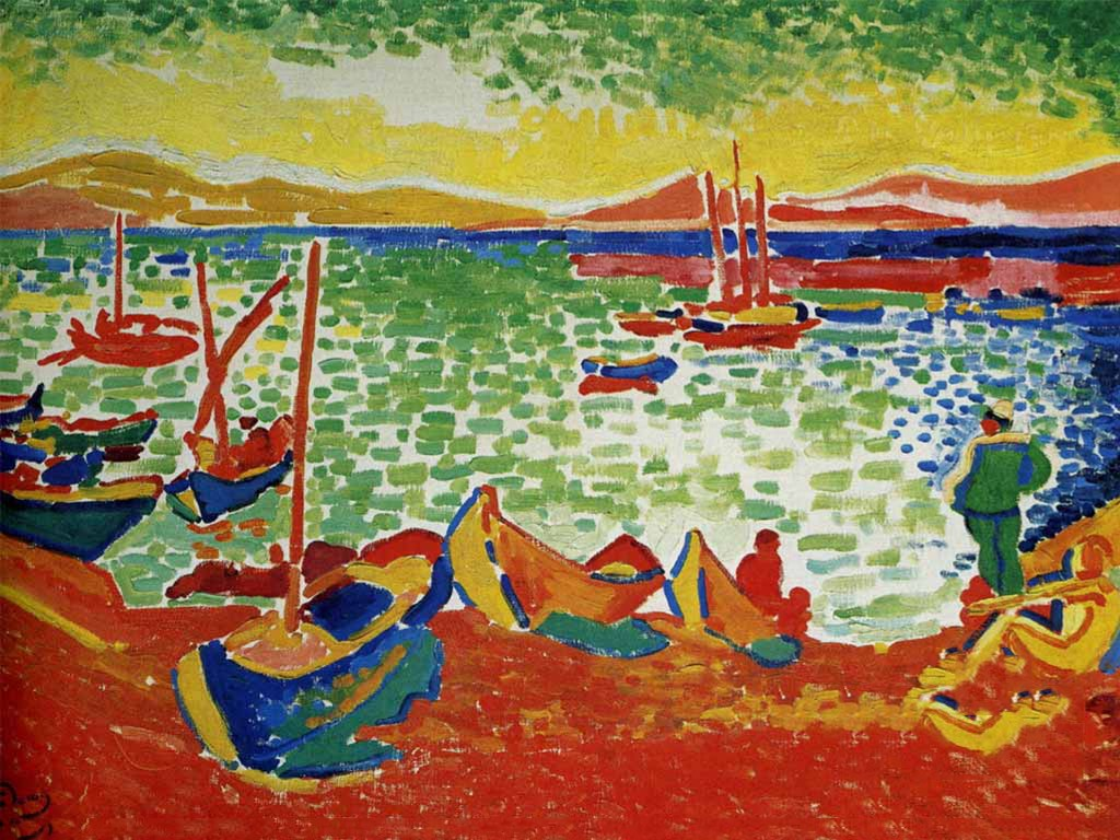 Artistic Wallpaper: Andre Derain - Boats in the Port of Collioure