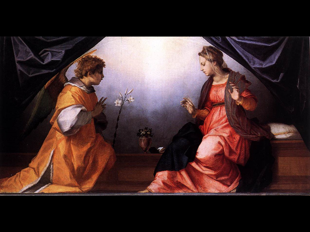 Artistic Wallpaper: Andrea del Sarto - Annunciation