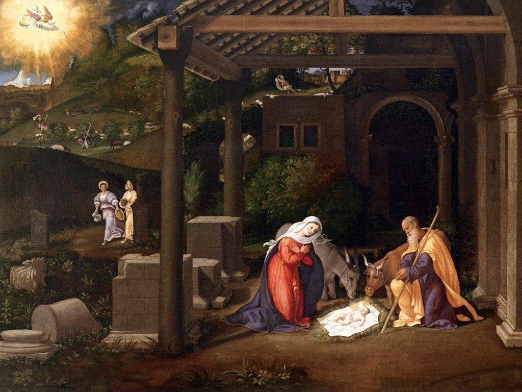 Artistic Wallpaper: Andrea Previtali - Nativity