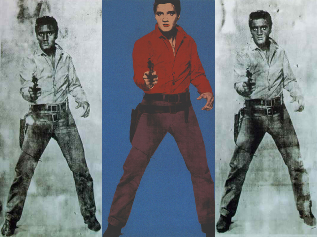 Artistic Wallpaper: Andy Warhol - Triple Elvis