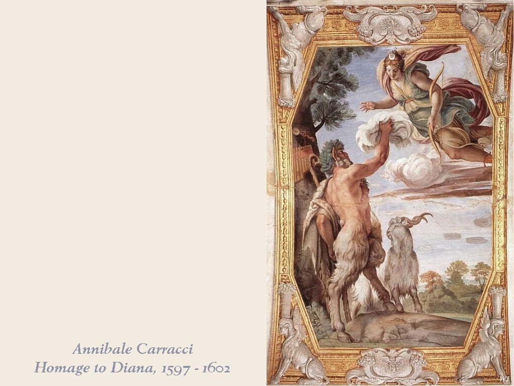 Artistic Wallpaper: Annibale Carracci - Homage to Diana