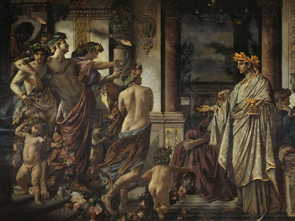 Artistic Wallpaper: Anselm Feuerbach - The Symposium