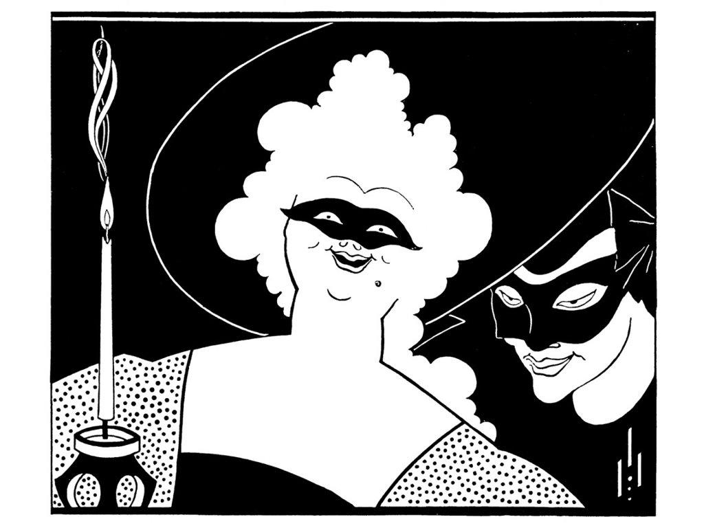 Artistic Wallpaper: Aubrey Beardsley - Masquerade