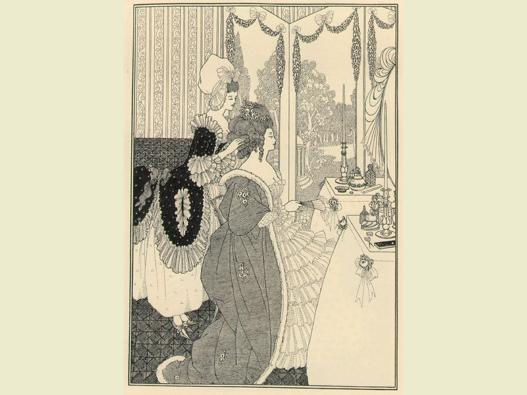 Artistic Wallpaper: Aubrey Beardsley - Toilet