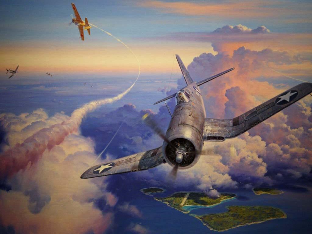 Artistic Wallpaper: Aviation Art - Dogfight
