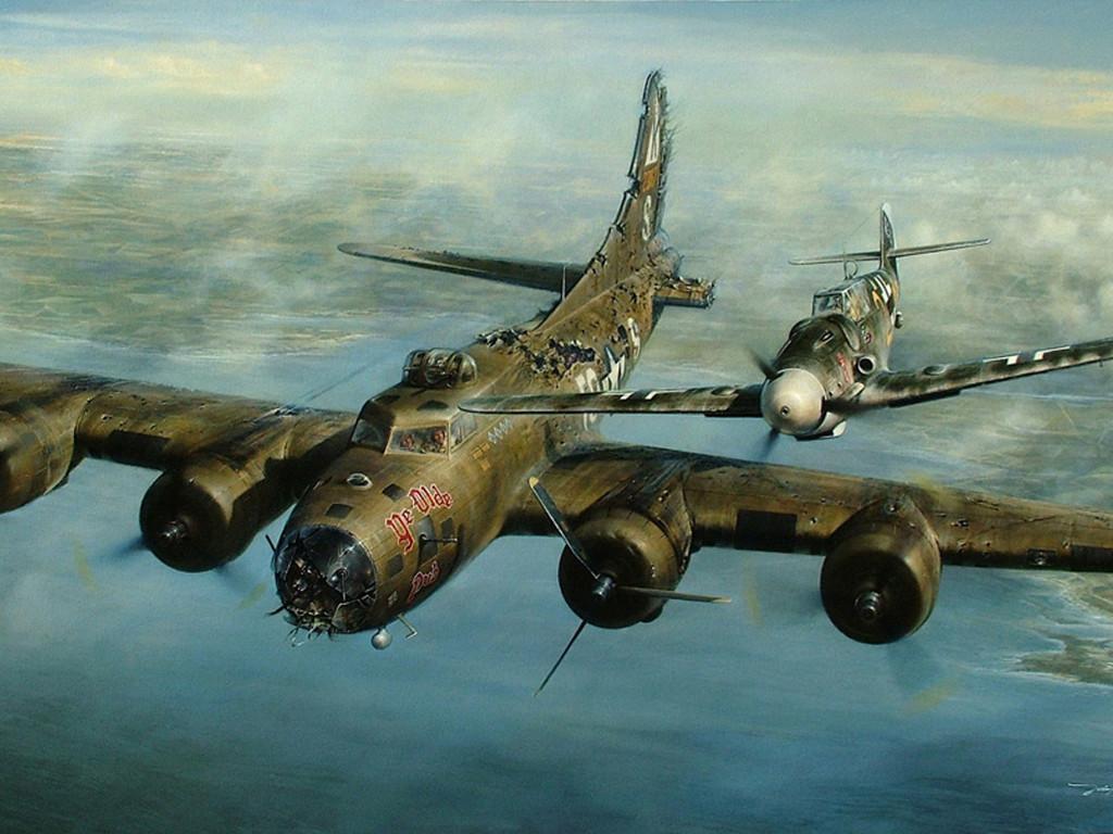 Artistic Wallpaper: Aviation Art - Escort Mission