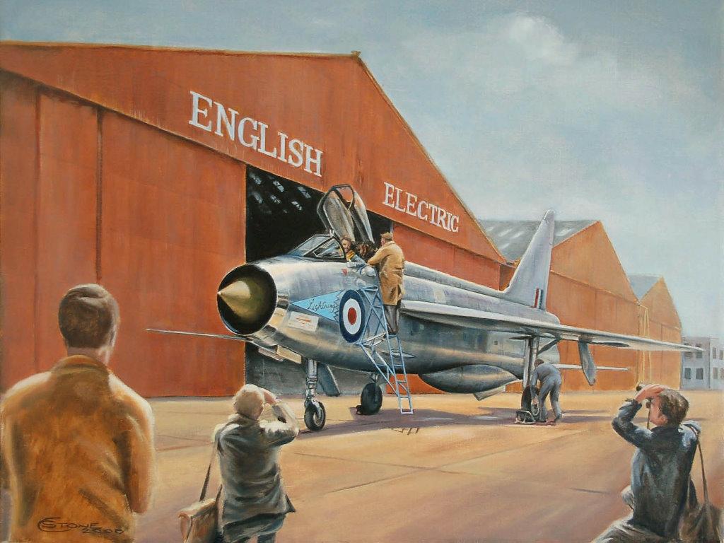 Artistic Wallpaper: Aviation Exhibition