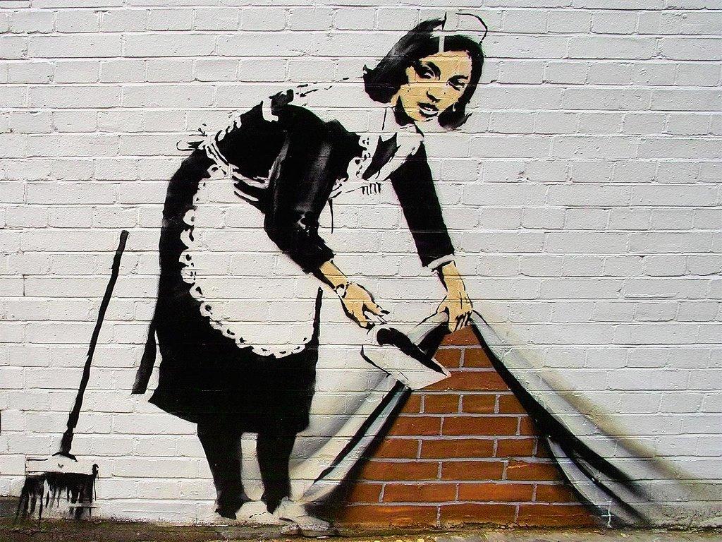 Artistic Wallpaper: Banksy - Sweeper