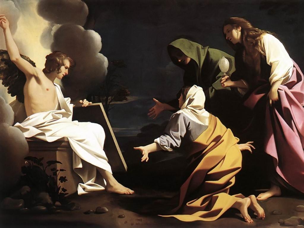 Artistic Wallpaper: Bartolomeo Schedoni - Three Marys at Tomb