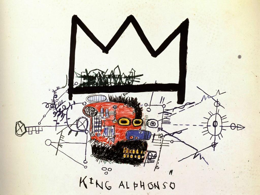Artistic Wallpaper: Basquiat - King Alphonso