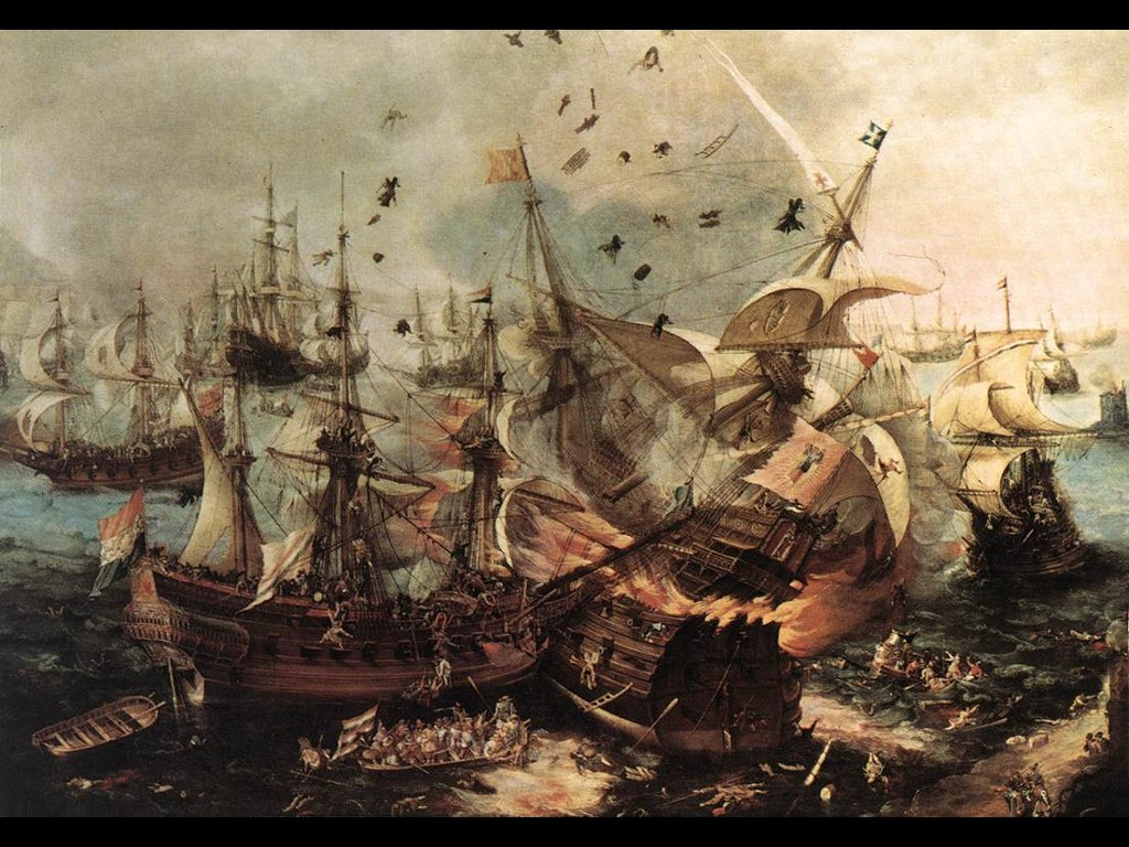 Artistic Wallpaper: Battle of Gibraltar (1607)