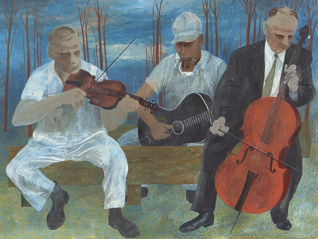 Artistic Wallpaper: Ben Shahn - Four Piece Orchestra