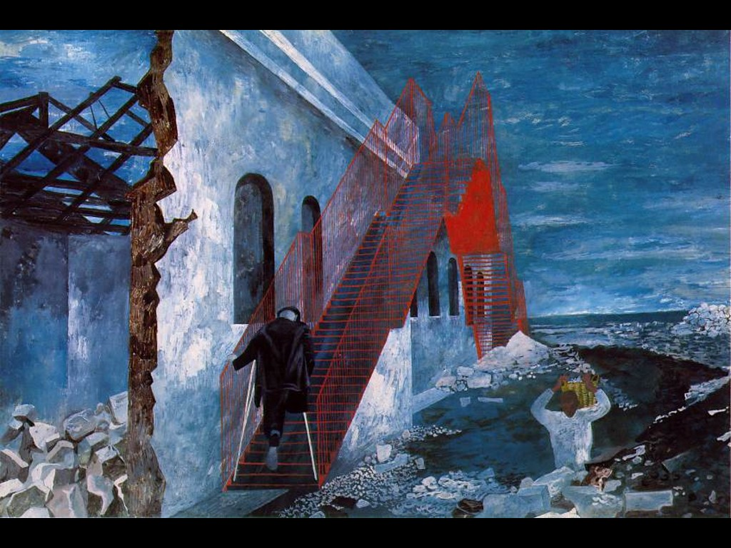 Artistic Wallpaper: Ben Shahn - Red Stairway