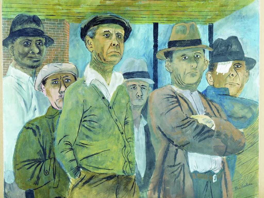 Artistic Wallpaper: Ben Shahn - Unemployed